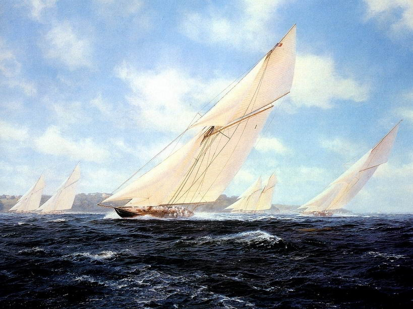 Sailing boat - oil painting code: yau007 - 86oilpaintings com